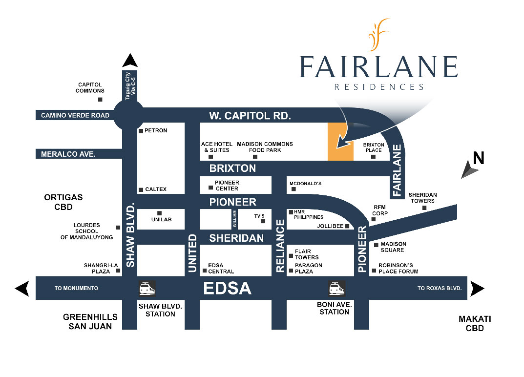 Fairlane Residences Location