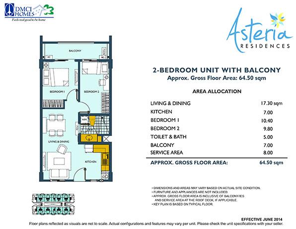 asteria-residences-dmci-paranaque-2-bedroom-unit